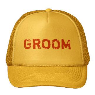 Chapéu simples do noivo do tema amarelo boné