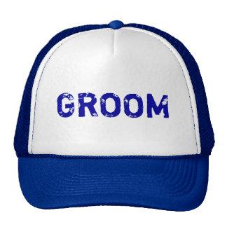 Chapéu simples do noivo do tema azul boné