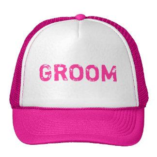 Chapéu simples do noivo do tema cor-de-rosa boné