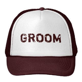 Chapéu simples do noivo do tema de Brown Boné