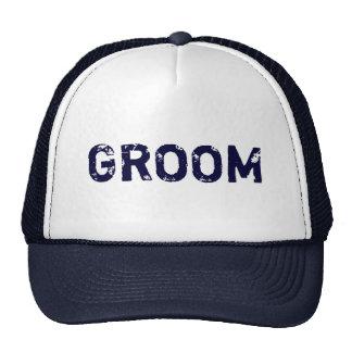 Chapéu simples do noivo do tema dos azuis marinhos boné