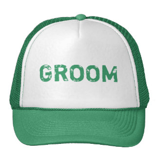 Chapéu simples do noivo do tema verde boné