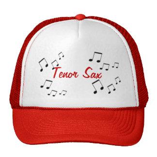 Chapéu - texto do instrumento musical no vermelho boné