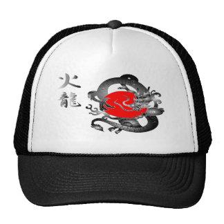 Chapéus do dragão do fogo da bandeira de Japão Boné