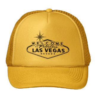 Chapéus preto e branco do sinal de Las Vegas Bones