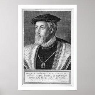 Charles V 1500-58 gravura Poster