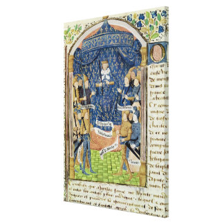Charles VII cercado por sua corte Impressão De Canvas Esticadas
