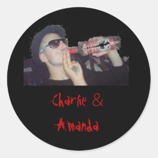 charlie e Amanda 16, Charlie & Amanda Adesivo