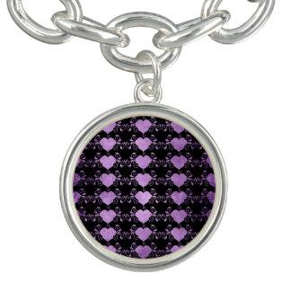 Charm Bracelets Coração abstrato de Steampunk