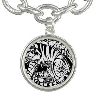 Charm Bracelets Franz Marc - tigre preto e branco - arte abstracta