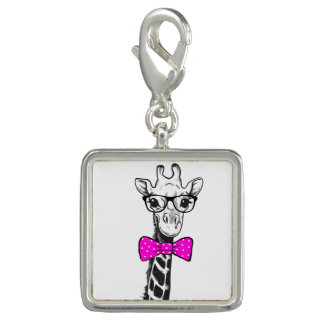 Charms Com Fotos Girafa do hipster