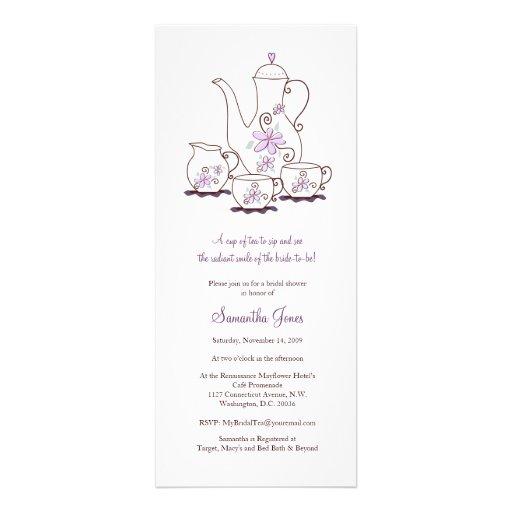 Chás de panela do grupo de chá convite personalizado
