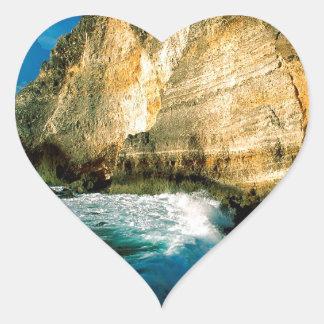 Chateaux Guadalupe do DES de Pointe da montanha Adesivo De Coração