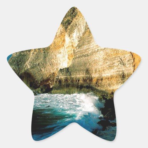 Chateaux Guadalupe do DES de Pointe da montanha Adesivos Em Forma De Estrelas