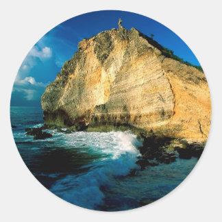 Chateaux Guadalupe do DES de Pointe da montanha Adesivos Em Formato Redondos