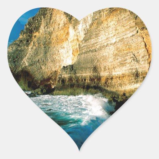 Chateaux Guadalupe do DES de Pointe da praia Adesivo De Coração
