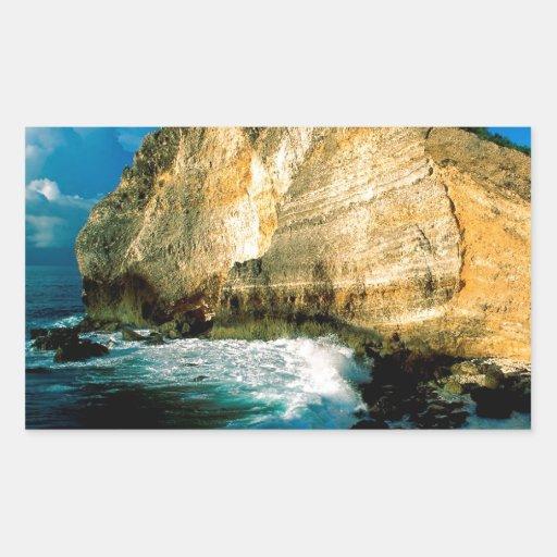 Chateaux Guadalupe do DES de Pointe da praia Adesivo Em Formato Retângular