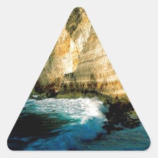 Chateaux Guadalupe do DES de Pointe da praia Adesivos Em Forma De Triângulo