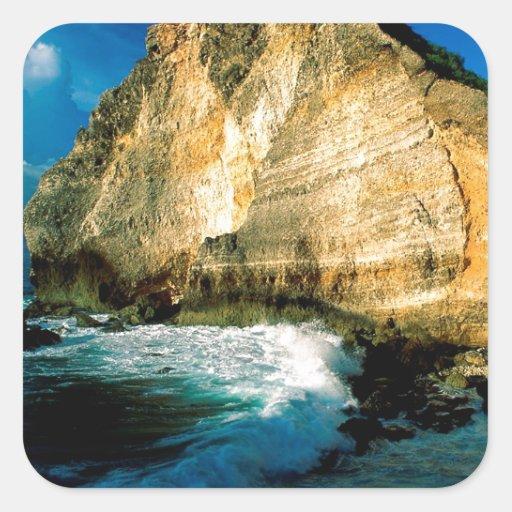Chateaux Guadalupe do DES de Pointe da praia Adesivo Em Forma Quadrada