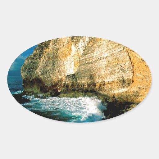 Chateaux Guadalupe do DES de Pointe da praia Adesivos Em Formato Oval