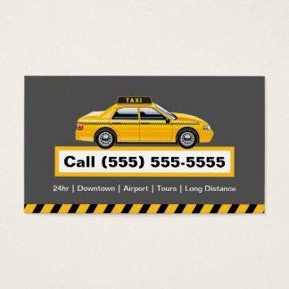 Chauffeur licenciado do taxista - boné amarelo cartão de visita