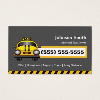Chauffeur urbano do taxista - boné amarelo cartão de visitas