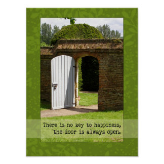 Chave à fotografia da porta da felicidade pôster