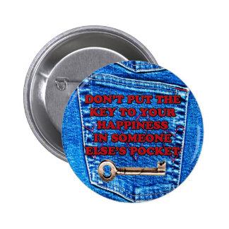 Chave à sarja de Nimes de calças de ganga das cita Botons