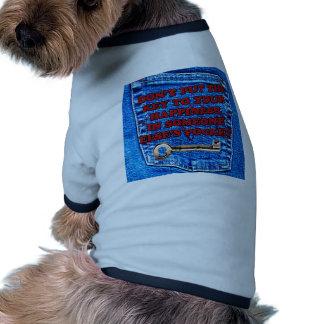 Chave à sarja de Nimes de calças de ganga das cita Roupas Para Pets
