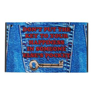 Chave à sarja de Nimes de calças de ganga das cita Capa iPad