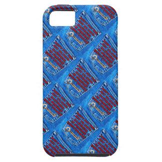 Chave à sarja de Nimes de calças de ganga das cita Capa iPhone 5 Case-Mate