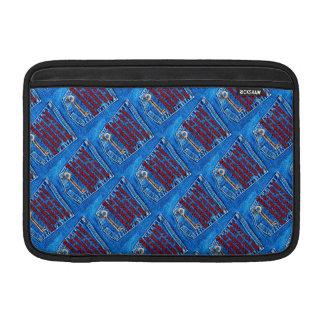 Chave à sarja de Nimes de calças de ganga das cita Bolsas Para MacBook Air