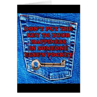 Chave à sarja de Nimes de calças de ganga das cita Cartão