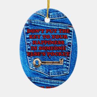 Chave à sarja de Nimes de calças de ganga das cita Ornamentos Para Arvore De Natal