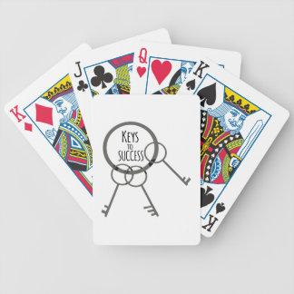 Chave ao sucesso baralhos de pôquer