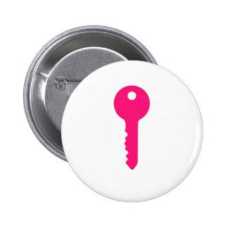 Chave cor-de-rosa botons