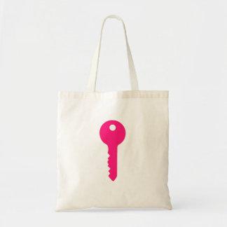Chave cor-de-rosa bolsas para compras