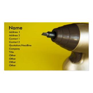 chave de fenda cartão de visita