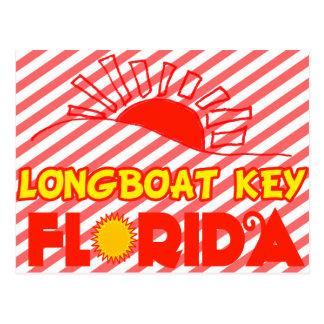 Chave do Longboat Florida Cartoes Postais