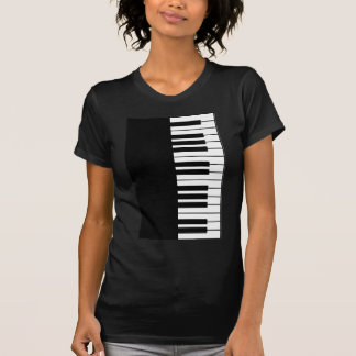 Chave do piano camisetas