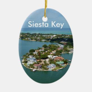 Chave do Siesta, Florida Ornamento De Cerâmica Oval