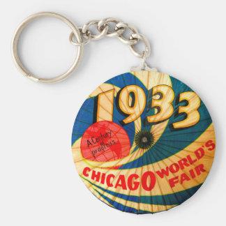 Chaveiro 1933 da lembrança da feira de mundos de C