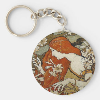 Chaveiro A arte Nouveau floresce a senhora Mulher Floral