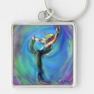 Chaveiro A postura da ioga do dançarino