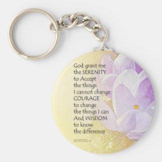 Chaveiro Açafrão 2 da oração da serenidade