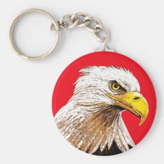 Chaveiro Águia americana no vermelho