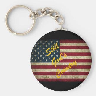 Chaveiro Ainda bandeira americana do país do deus
