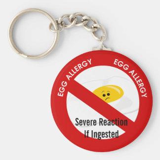 Chaveiro Alerta da alergia do ovo