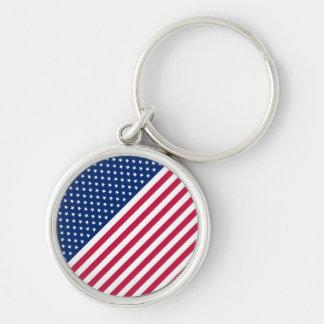 Chaveiro Americano 4o dos E.U. da bandeira dos EUA do Dia
