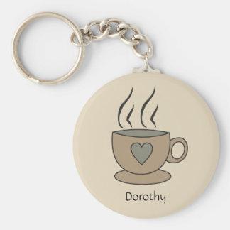 Chaveiro Anel chave personalizado da chávena de café com